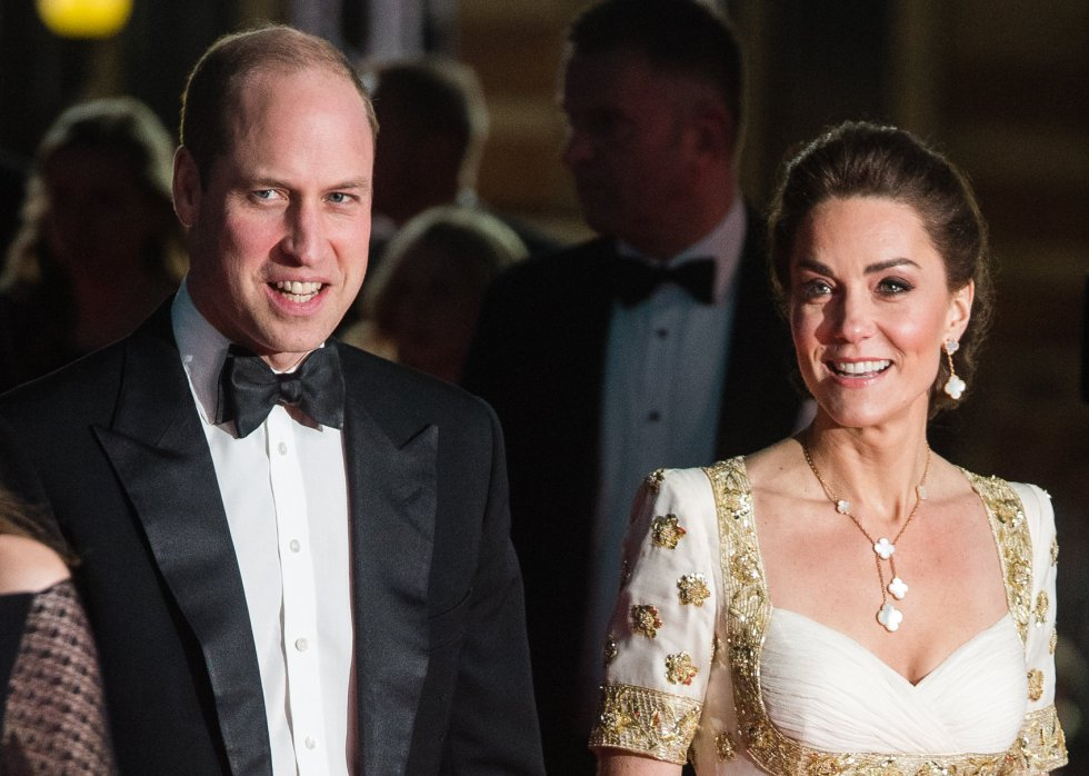 Los duques de Cambridge, en la alfombra roja.