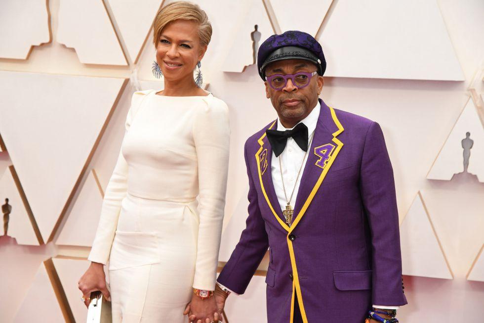 Tonya Lewis Lee y el director Spike Lee, que ha homenajeado a Kobe Bryant tras su fallecimiento