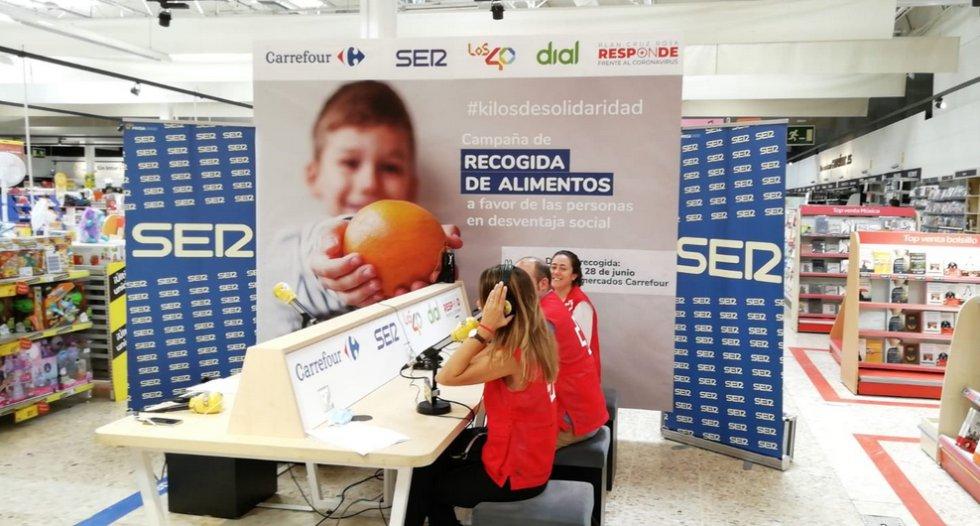 El especial 'Hoy por hoy' desde el Carrefour de Alcobendas con #KilosDeSolidaridad, en imágenes