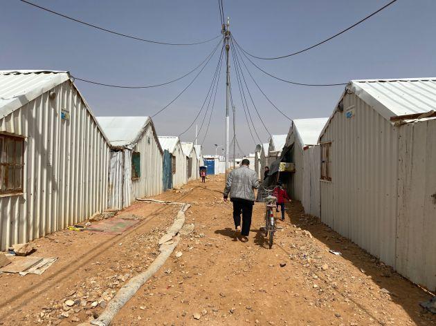 Una imagen del campo de refugiados de Azraq, en el norte de Jordania.