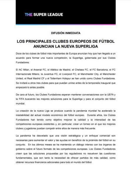 Documentos de la Superliga