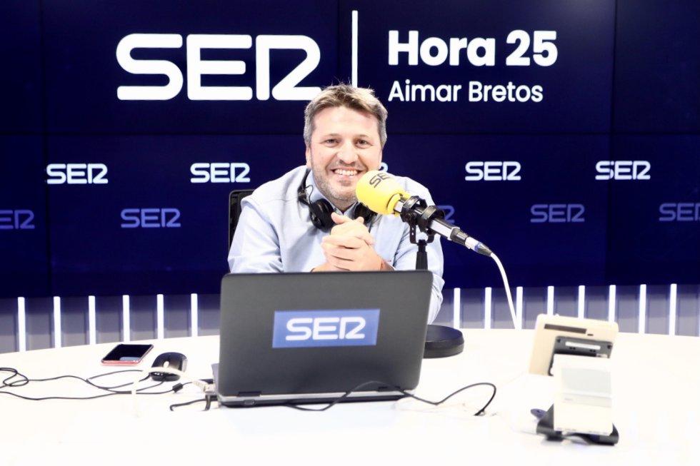 Aimar Bretos, director de 'Hora 25', en el estreno de 'El Ágora de Hora 25'.