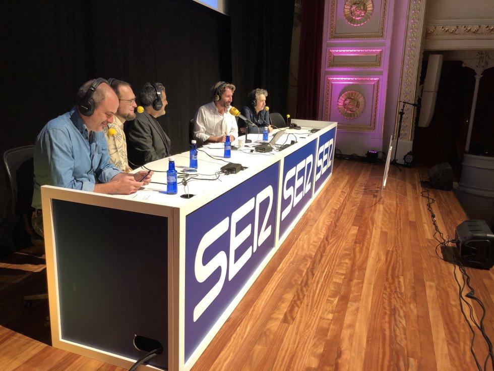 Julio Rey, Mauro Entrialgo e Iñigo Domínguez desde el Festival JA! Bilbao.