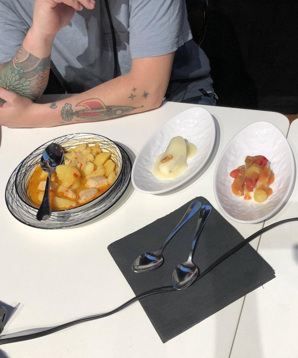 El concurso sobre las preferencias gastronómicas de los bilbaínos, con marmitako y bacalao al pilpil.