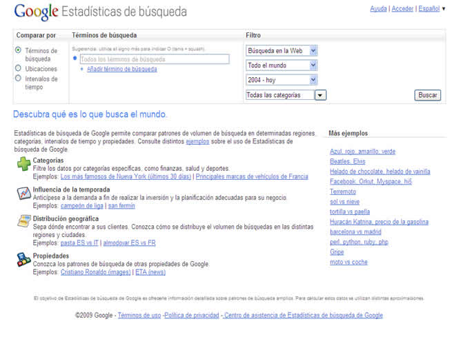 Google lanza un rastreador de tendencias