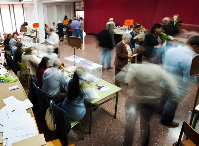 Colegio electoral en Burgos