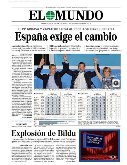 """""""España exige el cambio"""""""