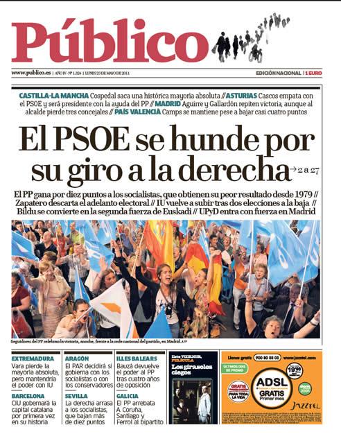 """""""El PSOE se hunde por su giro a la derecha"""""""