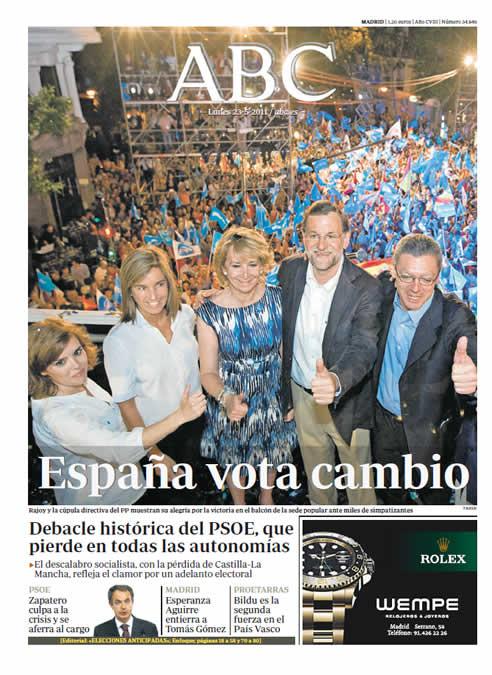 """""""España vota cambio"""""""