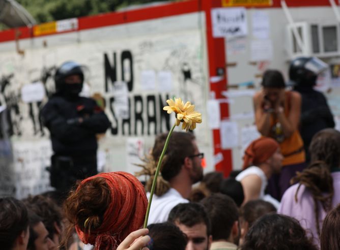 Desalojo de los 'indignados' de plaza Cataluña