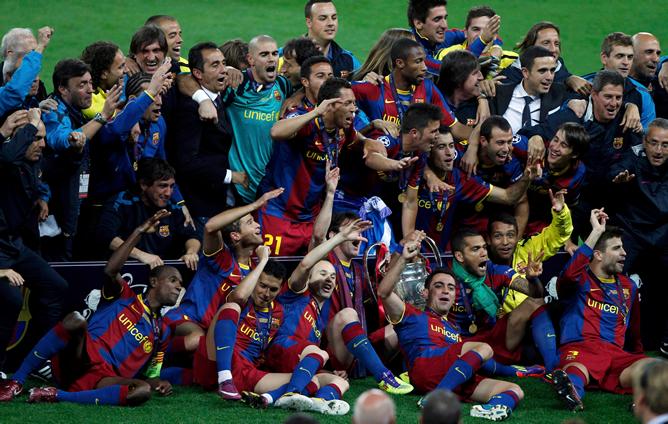 Las imágenes de la fiesta del Barça