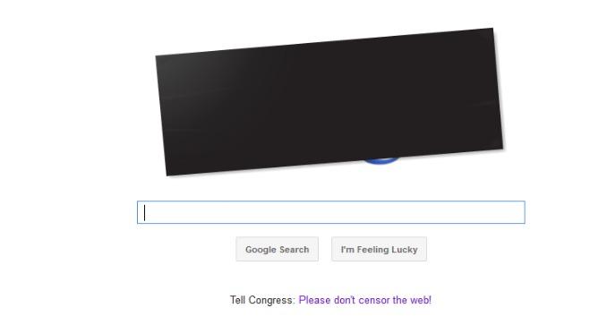 Google protesta contra la SOPA