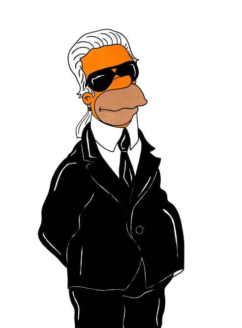 Alex Sandro Palombo ha convertido en una ilustración al diseñador en el famoso personaje de la serie norteamericana