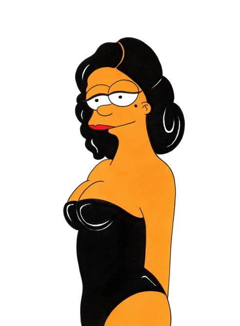 Alex Sandro Palombo ha convertido a la reina del burlesque Dita Von Teese en Marge Simpson