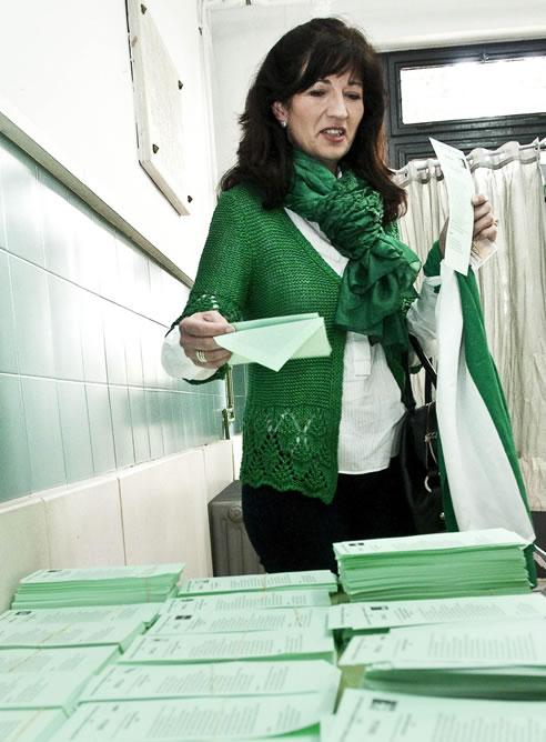 La secretaria general del Partido Andalucista y candidata a la Presidencia de la Junta de Andalucía, Pilar González