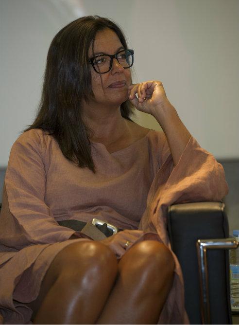 Angels Barceló, directora de Hora 25, durante la presentación de la temporada 2012-2013