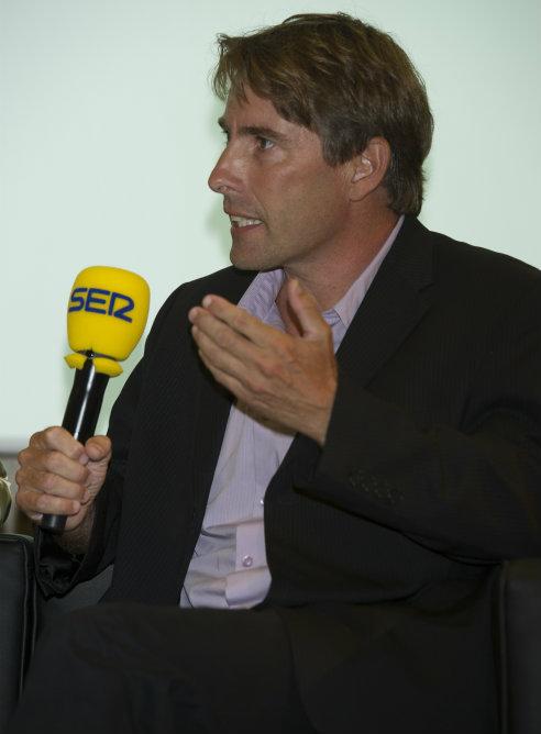 Javier del Pino, director de A vivir que son dos días, durante la presentación de la nueva temporada de la Cadena SER