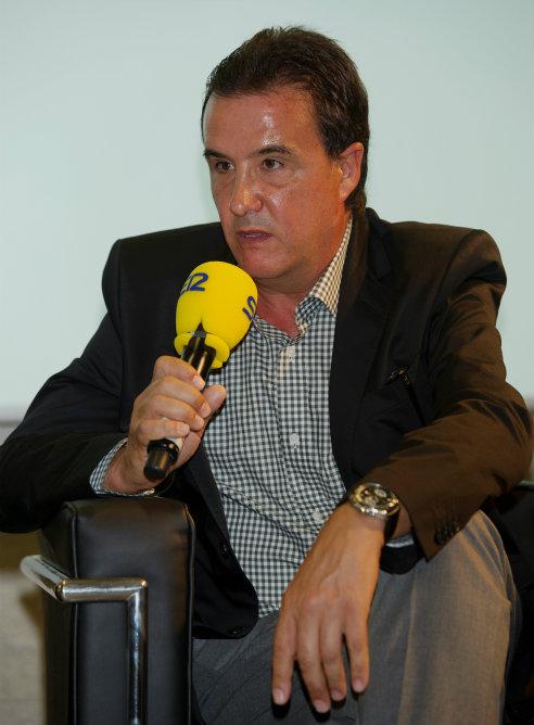 José Ramón de la Morena, director de El Larguero, durante la presentación de la Cadena SER