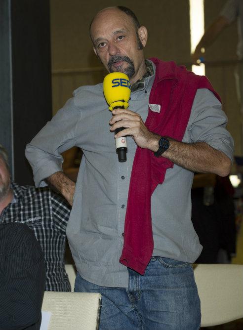 Javier Cansado, humorista y colaborador de la Cadena SER, también estuvo en la presentación de la nueva temporada