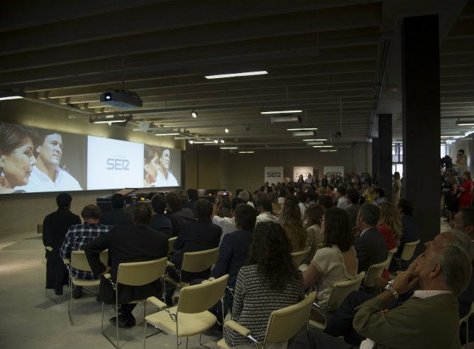 Mucha gente asistió a la presentación de la nueva temporada de la Cadena SER