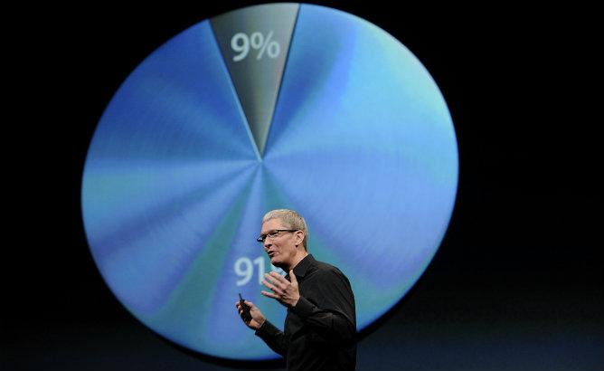 Tim Cook, consejero delegado de Apple, hablando durante la presentación en San Francisco