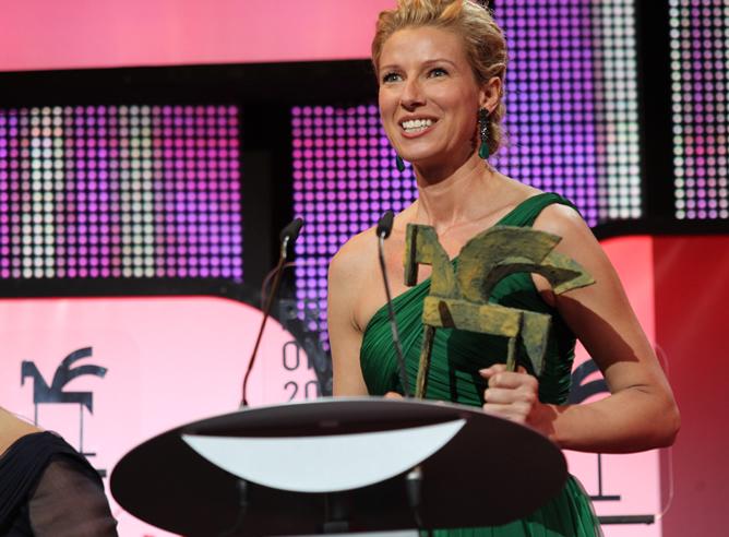 Anne Igartiburu (TVE) recoge el premio Ondas