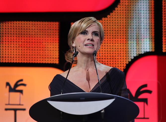 Gemma Nierga durante la ceremonia de entrega de los premios Ondas 2012
