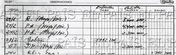 FOTOGALERÍA: EL PAÍS publica la contabilidad secreta del extesorero Luis Bárcenas