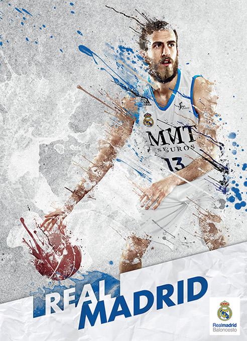 Imagen promocional del jugador del Real Madrid en la Copa del Rey de baloncesto.