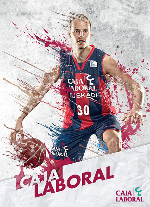 Imagen promocional del Caja Laboral como equipo participante de la Copa de baloncesto