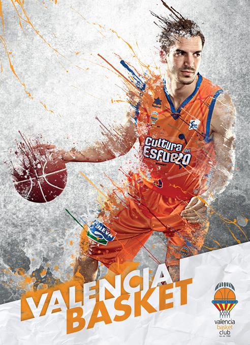 Imagen promocional del Valencia Basket en la Copa que se celebra en Vitoria