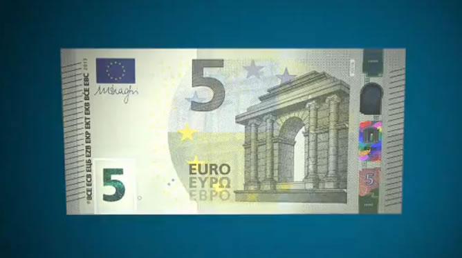 el nuevo billete de 5 euros en circulaci n econom a cadena ser. Black Bedroom Furniture Sets. Home Design Ideas