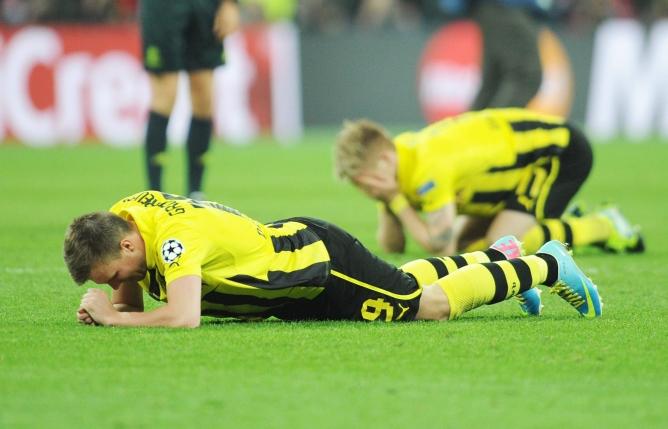 El gol hizo mucho daño a los jugadores de Dortmund