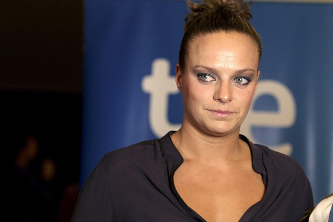 La jugadora de waterpolo, plata olímpica, triste tras la derrota.