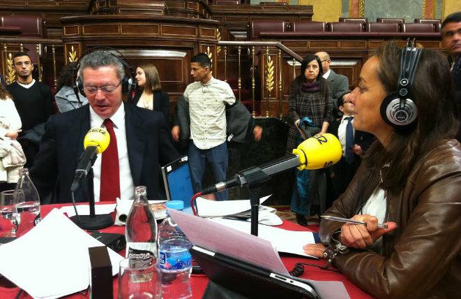 Alberto Ruiz Gallardón, desde el Congreso