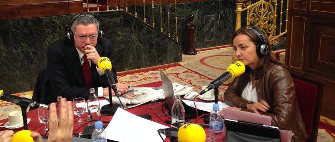 Alberto Ruiz-Gallardón, en los micrófonos de la Cadena SER