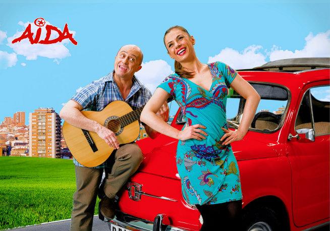 Pepe Viyuela y Miren Ibarguren, actores de 'Aída'