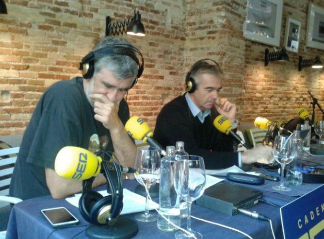 Carles Francino y Juanma López Iturriaga desde el Lotelito