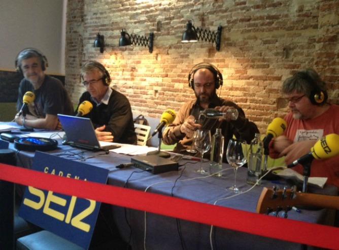 Carles Francino, Juanma Iturriaga, Toni Martínez y Javier Coronas celebran el Día de la Radio