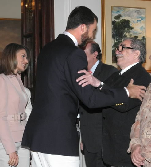 La primera visita oficial la exterior de los príncipes fue a México, donde estuvieron con Gabriel García Márquez.