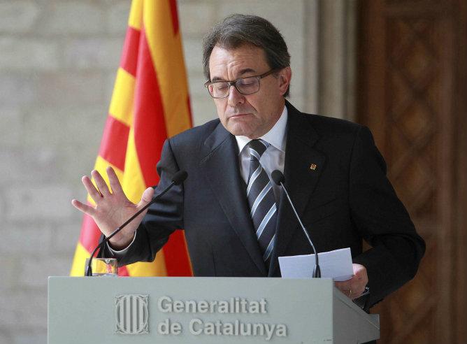 El president de la Generalitat Artur Mas