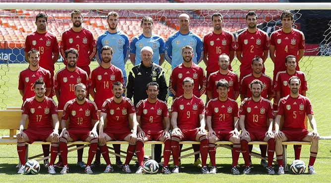 afacfdfce5 Todos los jugadores convocados por Vicente del Bosque para disputar el  Mundial de Brasil 2014.