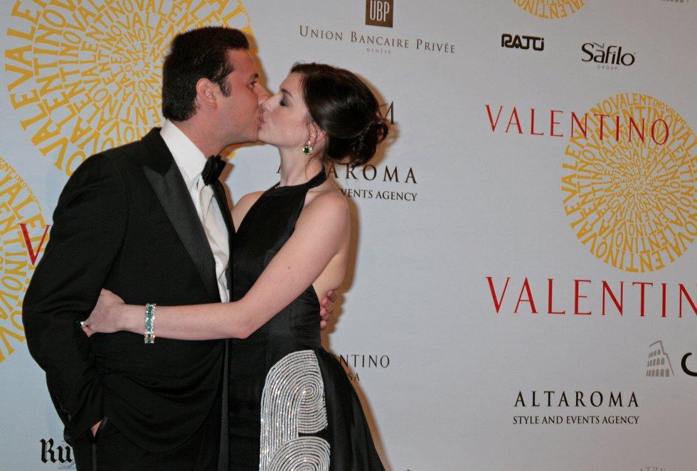 La actriz, todo un icono para el mundo de la moda, posa durante un acto de Valentino en Roma