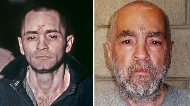 "(FILES):  The file image of Charles Manson (L) taken during his trial in March, 1971, and the handout image of Manson (R) released by the California State Prison, Corcoran, which was taken on March 18, 2009.  He may not be everyone's idea of a good catch, but mass murderer Charles Manson has been granted a marriage license to wed a 26-year-old woman who has been visiting him in prison.  Manson, 80, who is serving a life sentence for slaying seven people, plans to marry Afton Elaine Burton, 54 years his junior and described in US media as a slender brunette.  Manson has been in prison for more than four decades after the 1969 killings, which included the brutal murder of director Roman Polanski's wife, Sharon Tate, who was eight-and-a-half months pregnant.   But Burton, who also calls herself ""Star,"" has said she and Manson are madly in love and already consider themselves married.    AFP PHOTO / HO / Califrornia State Prison, Corcoran   == RESTRICTED TO EDITORIAL  USE / MANDATORY CREDIT:  ""AFP PHOTO /  Califrornia State Prison, Corcoran /  NO A LA CARTE SALES  / NO MARKETING / NO ADVERTISING CAMPAIGNS / DISTRIBUTED AS A SERVICE TO CLIENTS =="
