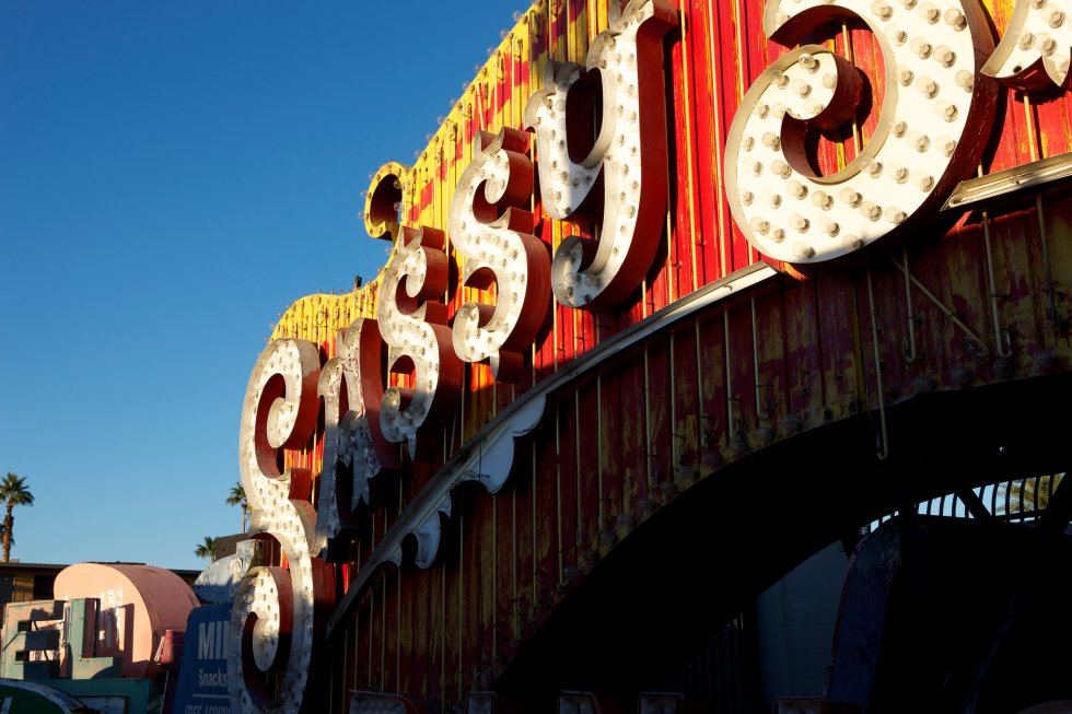 El cartel del casino Sassy Sally's, increíblemente famoso, sale en distintas películas a la entrada del strip.