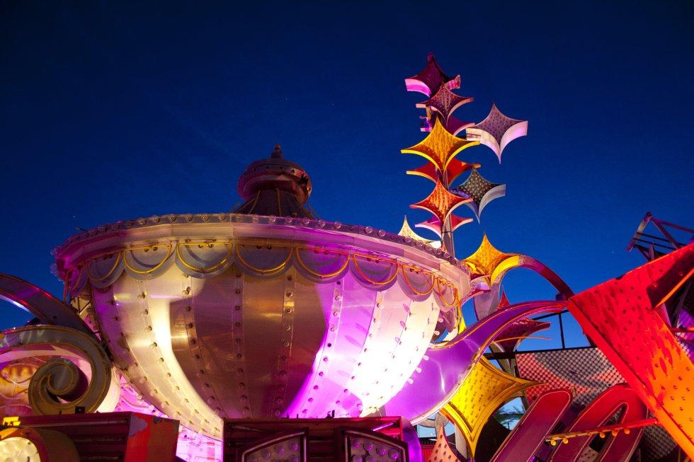 Una lámpara del casino Aladín.