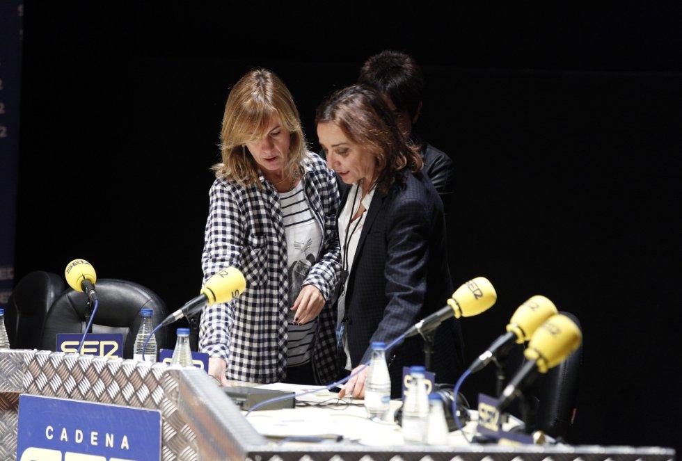 Gemma Nierga y Pepa Bueno en un receso del programa
