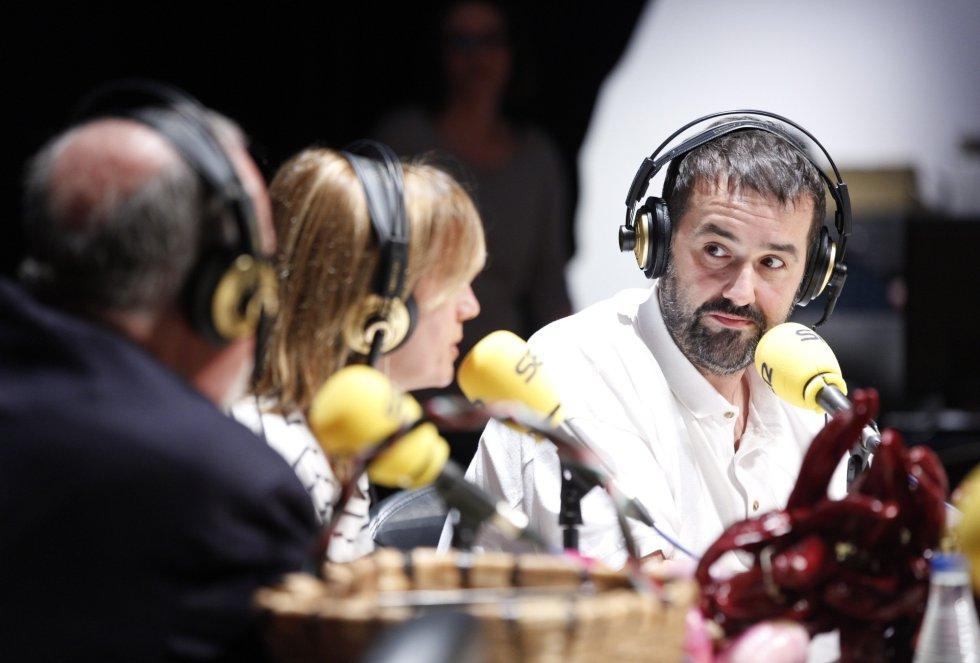 David de Jorge y Gemma Nierga hablan de gastronomía en el 'Hoy por Hoy' realizado en Bilbao con motivo del Foro de Empleo juvenil
