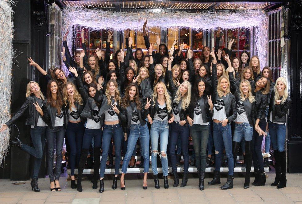Las modelos que este año ha seleccioando Victoria's Secret para su desfile de lencería.