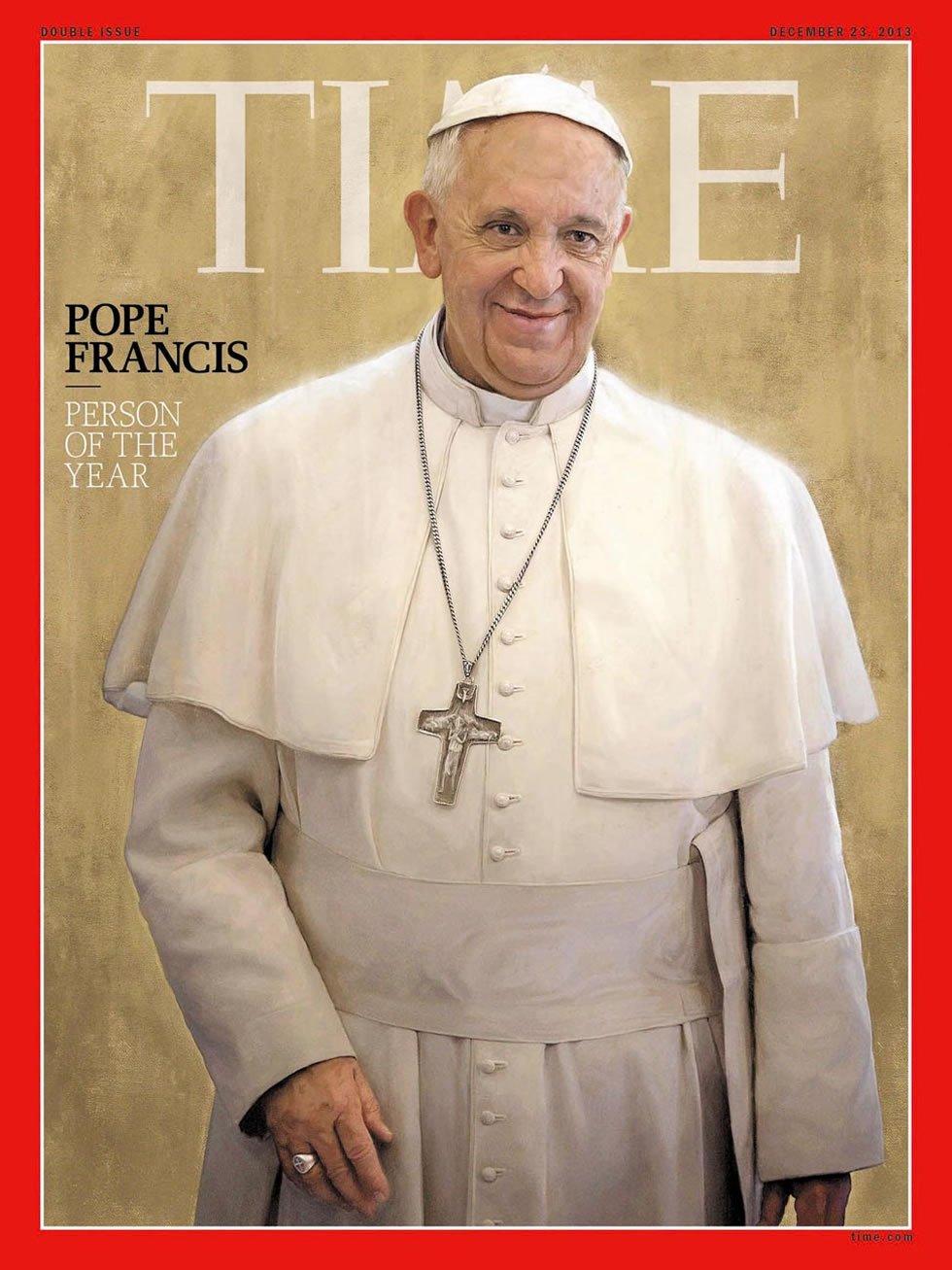 Tercer pontífice que ocupa la portada de la revista como persona del año